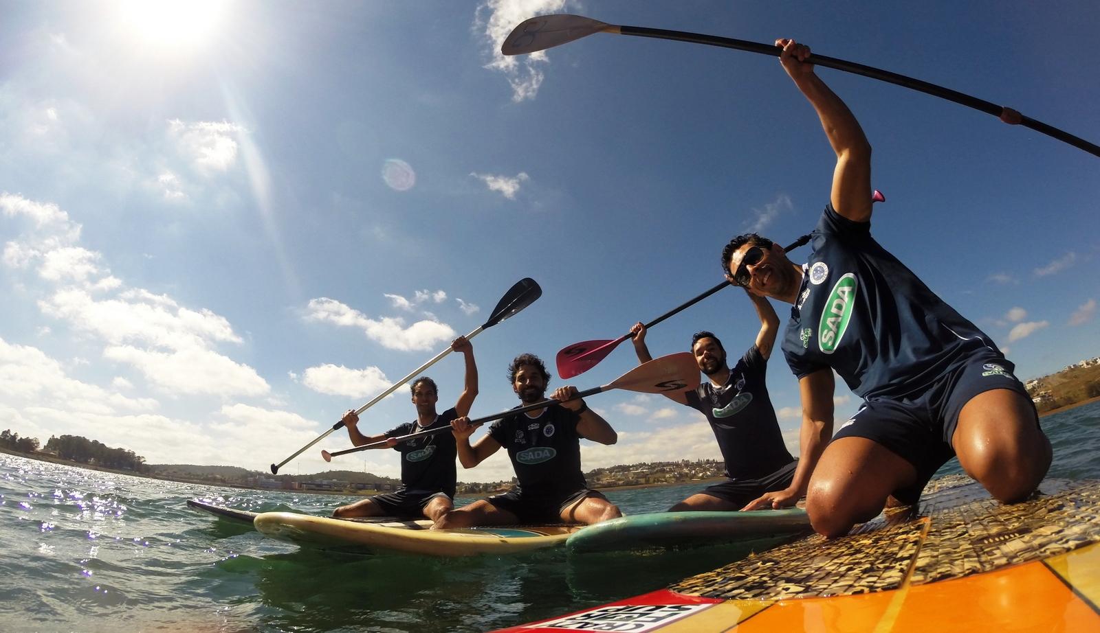 Cruzeirenses inovam na preparação física com stand up paddle e slack-line 392cf9cfe2e91